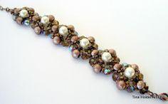 Beading Tutorial - Caprica Pearl Cluster Bracelet