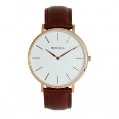 Klassisches Design, gepaart mit edlen Materialien, machen diese Armbanduhr aus. Der Zeitmesser zeigt sich als Accessoire, das zu den verschiedensten Anlässen getragen werden kann. Die Uhr wird definitiv Dein neues Lieblingsaccessoire werden. Die harmonische Farbzusammenstellung der Uhr aus Weiß, Gold und Braun kannst Du blind mit allen Sachen aus Deinem Kleiderschank kombinieren. Dieses Modell ist einfach ein modisches Accessoire für jede Gelegenheit. Watches, Classic, Gold, Leather, Design, Fashion, Accessories, Bracelet Watch, Brown