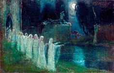 ahomeforbirds:   Gulácsy Lajos - Daughters of the Night (1900)