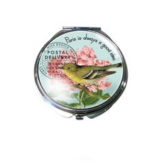 """Adorable and affordable compact mirror! """"Paris is always a good idea"""". #gifts"""