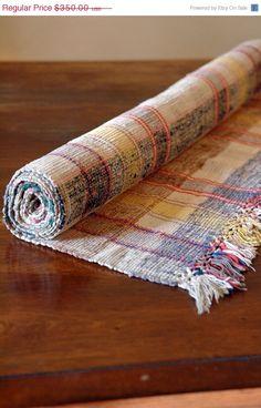 SALE Vintage Rag Rug // Scandinavian Floor Runner // 7.5 feet. $262.50, via Etsy.
