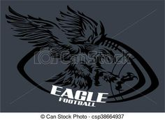 Vector - eagle football - stock illustration, royalty free illustrations, stock clip art icon, stock clipart icons, logo, line art, EPS picture, pictures, graphic, graphics, drawing, drawings, vector image, artwork, EPS vector art