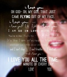 """It's like I'm infected by Mark Sloan..."" loved this scene"