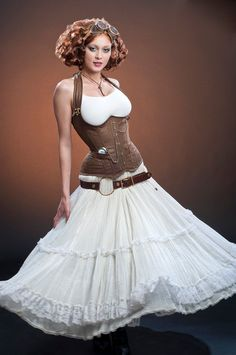 Meschantes Steampunk Distressed Vegan Leather Weskit Corset - Your Size. via Etsy.