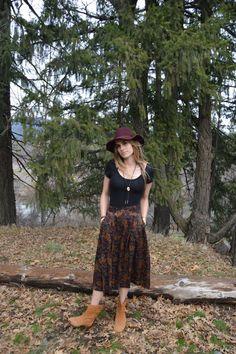 Mary Jane Vintage 1990's high waist skirt by Desertmoonrisevtg