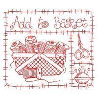 Redwork I Love Sewing - Sweet Heirloom Embroidery | OregonPatchWorks