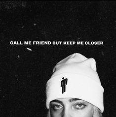 Billie Eilish, Bio Quotes, Song Quotes, Song Lyrics Wallpaper, Wallpaper Quotes, Whatsapp Info, Call My Friend, Cool Lyrics, Tumblr