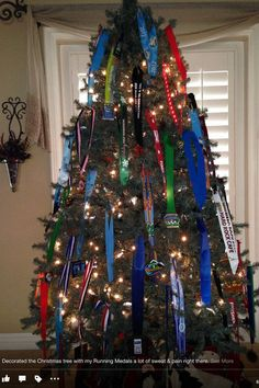 Christmas tree decorated with medals, google search