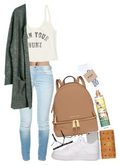 """Untitled #321"" by kaylastar221 on Polyvore featuring Zara, MICHAEL Michael Kors, Michael Kors, NIKE, Billabong, Julie Fagerholt Heartmade, Victoria's Secret, HUF and MCM"