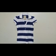 stripes white and blue shirt unworn, unused given to me as a gift, in good condition. outlooks Tops