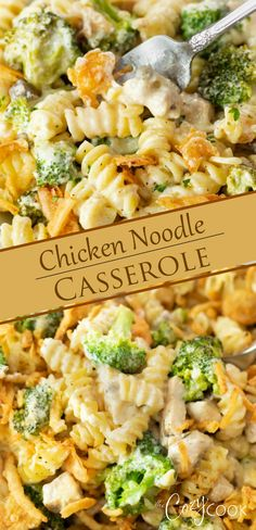 chicken casserole dinners This Chicken Noodle Casserole recipe is an easy dinner idea with simple ingredients. Make it up to 2 days ahead of time for easy meal prep! Hungry Girl Recipes, Chicken Noodle Casserole, Easy Chicken Dinner Recipes, Easy Casserole Recipes, Cooking Recipes, Healthy Recipes, Quick Easy Meals, Meal Prep, Winter Dinner Ideas