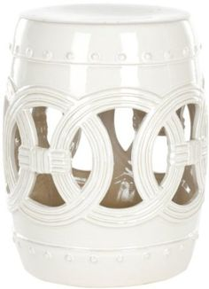 Amazon.com - Safavieh Castle Gardens Collection Knotted Rings Ceramic Garden Stool, White