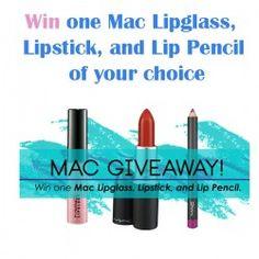 win one Mac Lipglass, Lipstick, and Lip Pencil of your choice ^_^ http://www.pintalabios.info/en/fashion-giveaways/view/en/3295 #International #MakeUp #bbloggers #Giweaway