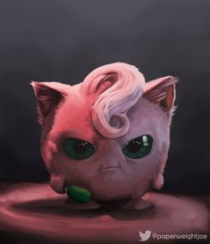 Digital painting of the Jigglypuff from the Detective Pikachu movie trailer Pokemon Jigglypuff, Pokemon Eevee Evolutions, Pikachu Art, Cute Pikachu, Cute Pokemon Wallpaper, Cute Wallpaper Backgrounds, Disney Wallpaper, Cute Wallpapers, Cute Fantasy Creatures