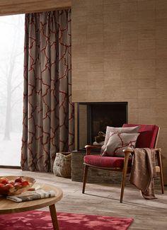 Carta da parati moderna · tessuto da tappezzeria design. 110 Sahco Ideas Fabric Curtains With Blinds Design