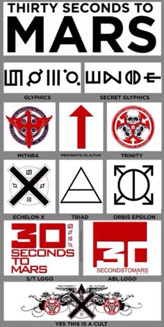 Yes this is a cult! ❌⬆️ 30 Seconds To Mars.          ECHELON!