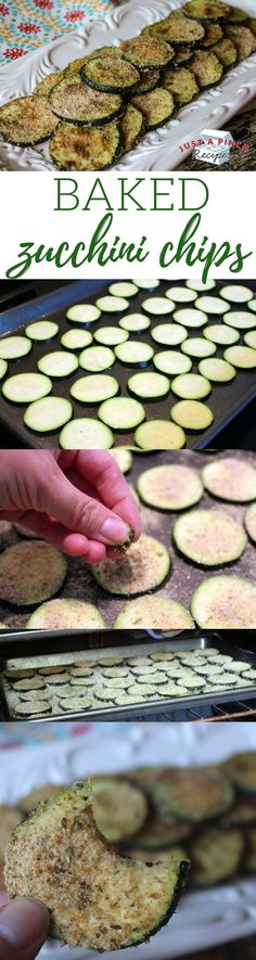 Easy homemade baked zucchini chips recipe that makes chips that are crispy on the outside and tender in the middle - ready in under 30 minutes!