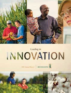 Monsanto 2011 - Like how they blended the images and the drop out text!