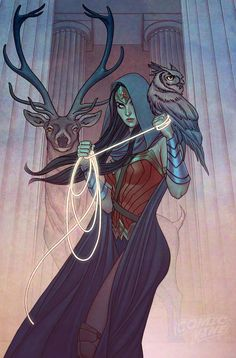 WONDER WOMAN # 8 variant cover by Jenny Frison