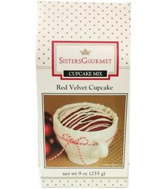 Sisters Gourmet Red Velvet Cupcake Mix | Mug Recipes | Great Stocking Stuffers