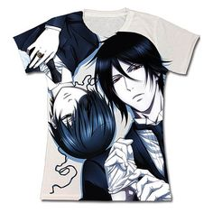 black butler sebastian shirt | Black Butler 2 Ciel and Sebastian Printed Juniors T-Shirt - Great ...