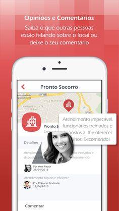 HospitalPlus • ScreenShots • Tela Comentários • iOS • Design Mobile