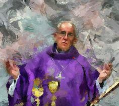 Pope Francis - I would love to know who painted this!  They should be on my Living Catholic Artists board.