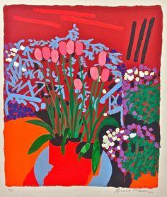 Bruce McLean, 'Tall Dutch Tulips', screenprint, edition of 75, , 114 x 97cm