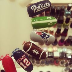 A friend asked for a New England Patriots fanicure.  I'm so happy with what I did.  Hoping she'll love them too! #newenglandpatriots #patriots #fanicure #nailart #nailartobsessed #nflnailart #patriotfan #nails