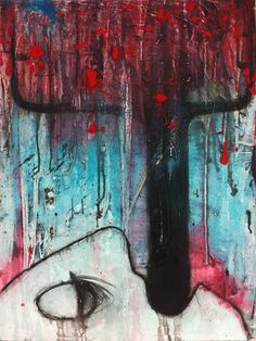 Acrylics and Charcoal on Canvas, * My Works, Acrylics, Charcoal, Abstract, Canvas, Digital, Artwork, Painting, Summary