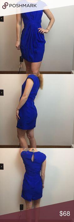 NWT Amanda Uprichard Blue Silk Short Sleeve Dress Amanda Uprichard Dress Blue Dress, Silk and Short Sleeve, Pleated Front and has zipper closure. New with tags. Size small. Amanda Uprichard Dresses