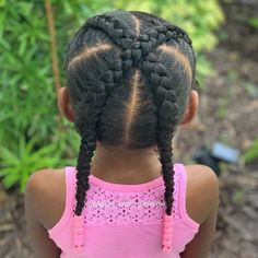 Cute Little Girl Hairstyles, Black Kids Hairstyles, Natural Hairstyles For Kids, Baby Girl Hairstyles, Kids Braided Hairstyles, Princess Hairstyles, Weave Hairstyles, Cute Hairstyles, Natural Hair Styles