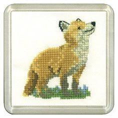 Fox Coaster Kit - Heritage Crafts Cross Stitch