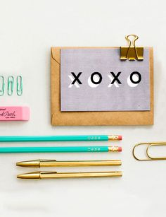 XOXO POSTCARD | little cat design co.