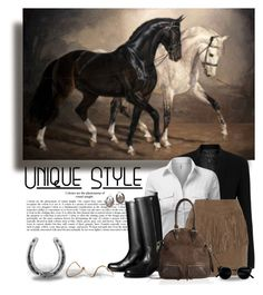 """""""Sporty Equestrian Style"""" by leegal57 ❤ liked on Polyvore featuring rag & bone, J.TOMSON, W118 by Walter Baker, Hermès, Overland Sheepskin Co., Rosita Bonita, Torrini, equestrian, Horse and sportystyle"""