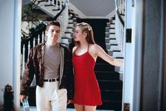 Alicia Silverstone (as Cher Horowitz) and Justin Walker (as Christian Stovitz)