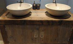 Houten badkamermeubel - RestyleXL - badkamermeubels - maatwerk - sanitair