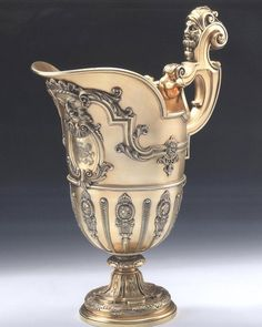 THE LOWTHER CASTLE EWER. An important Neo Classical style Silver Gilt Ewer. Made in London in 1881 by the Royal Silversmith, Robert Garrard of Panton Street. (London)