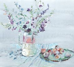 Paint a Still Life with Foxgloves and Plums in Watercolour with Judi Whitton