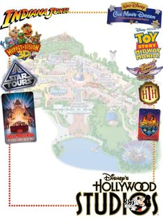 Hollywood Studios ridesA little journal card to brighten up your holiday scrapbook!