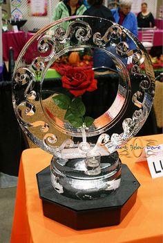 Ring Rose Ice Centerpiece  _Ice Sculpture _Wedding _Events _Centerpieces