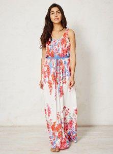 Floral bamboo maxi dress