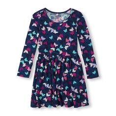 The Childrens Place - This easy-on style features a super soft knit and vibrant hot air balloon print she'll love!