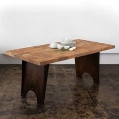 CG Sparks Teak Wood Metal Dining Table in Natural - o1516180103