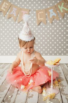 Annie's ONE! Love the mixture of dress up and messy! Photo by Krista Lee.