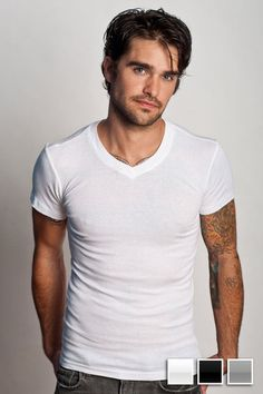 Dreamy...the undershirt, that is. Why? Because, as a man, you wear one ALL THE TIME. Might as well make it a good one.