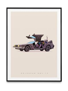 Dmc 12, Format A3, Made In France, Ikea Frames, Back To The Future, Wrapping Papers, Impressionism, Event Posters