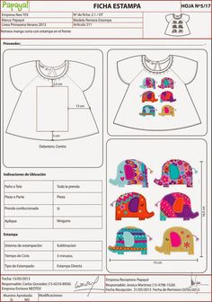 Fichas Técnicas TP niños OLIVIA DUVIEILH DISEÑO Diseñadora de Indumentaria FADU Fashion Kids, Fashion Books, Pattern Cutting, Pattern Making, Fashion Design Classes, Flat Sketches, Textiles, Technical Drawing, Kids Prints
