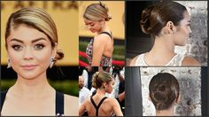 Sarah Hyland Upsweep done by Stunning Braids author Monae Everett. Find more info at www.HairAndMakeupBlog.com.