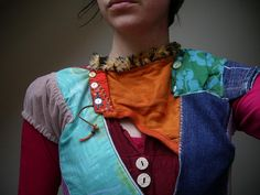 Cool patchwork clothing
